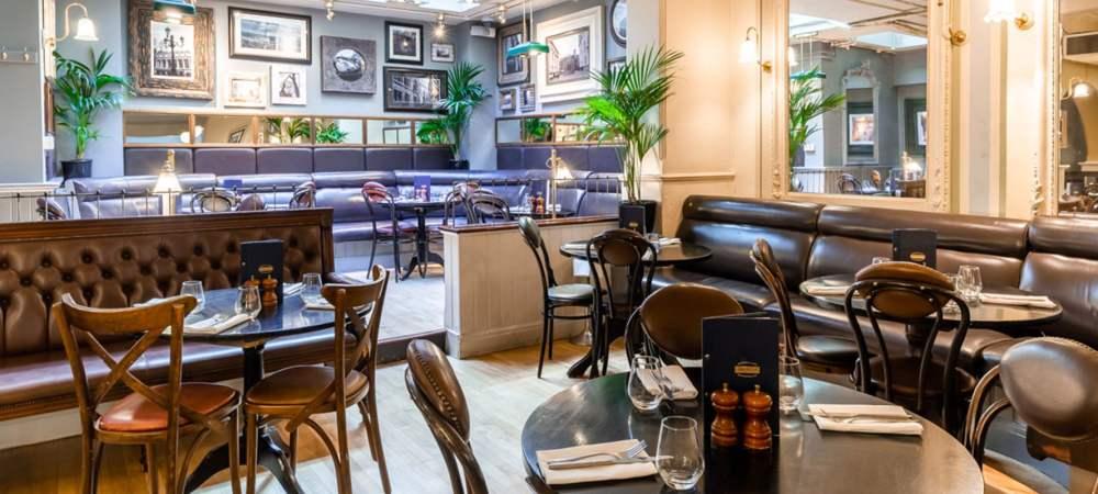 interior shot of browns brasserie