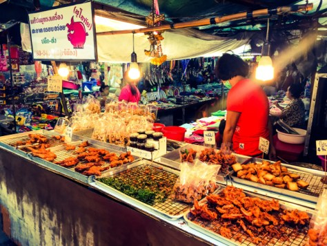 bangkok gece pazarı