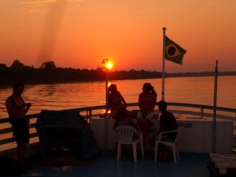 amazon nehri güneş batışı
