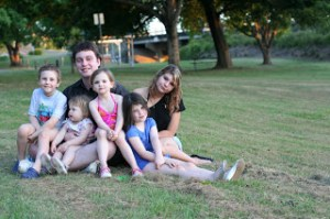 My brood. Six reasons to be enthusiastic about  the approaching of baby number seven.