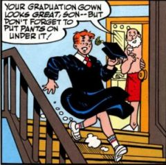 Archie forgets to put pants on