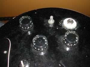 volume tone pots input jack