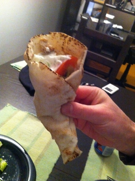 chicken pita wrapped