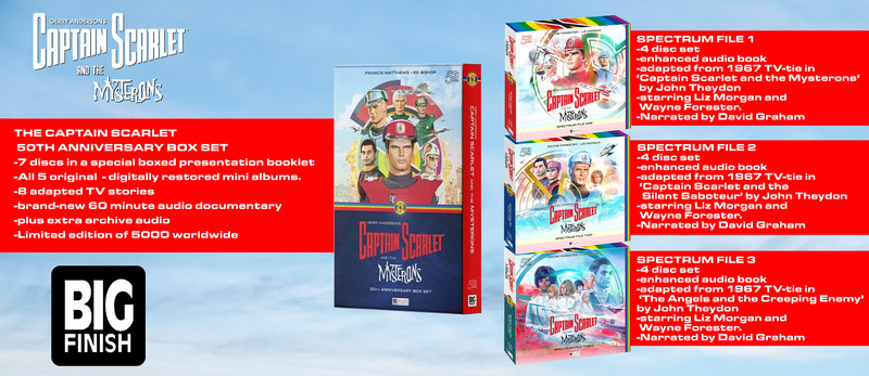 Captain Scarlet and the Mysterons 50th anniversary boxset