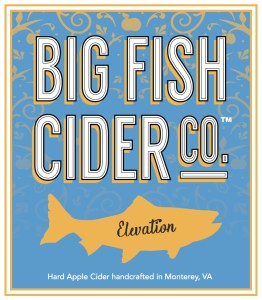 Big Fish Cider Co. Elevation label