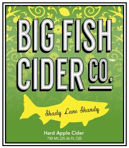 Big Fish Cider Co. Shady Lane Shandy label
