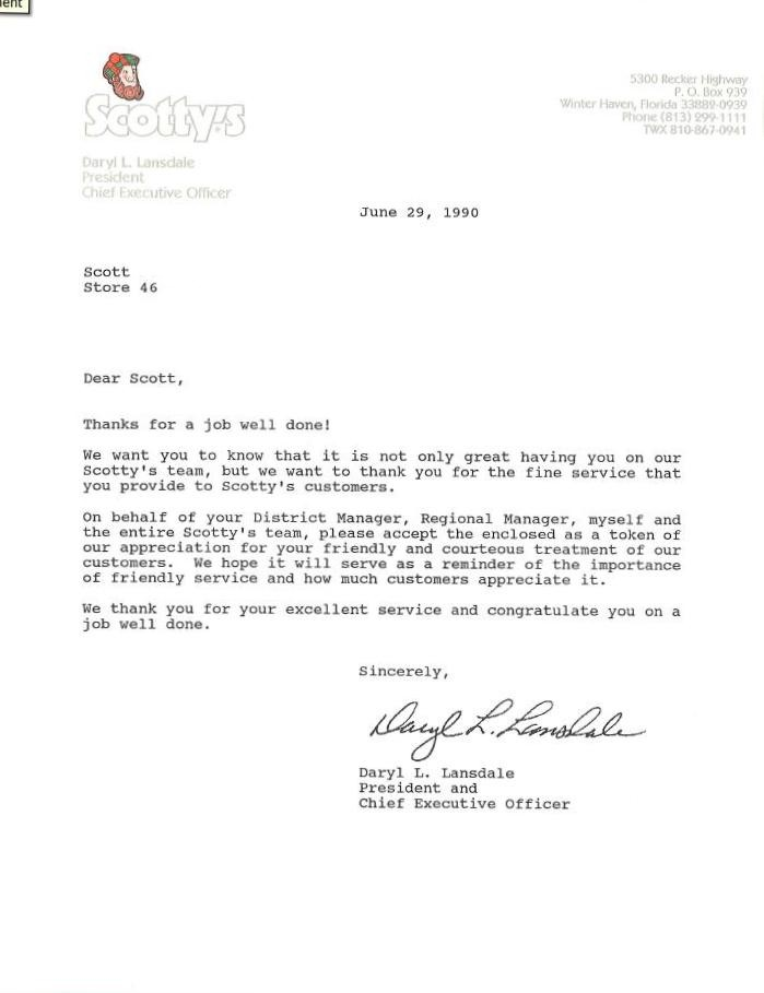 Sample Letter Of Appreciation For Great Service  Docoments Ojazlink