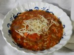 Fall/Winter Soup Contest Entrant #5: Tomato Rice Soup with Pesto in a Slow Cooker