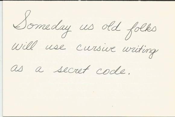 Cursive-Writing