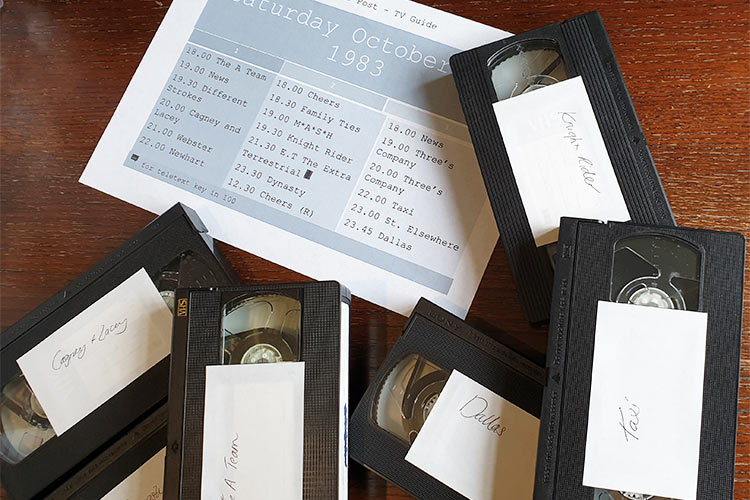 VHS tapes creating clues