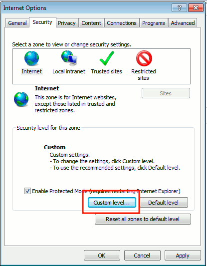 stop-autorefresh-ie-security-options