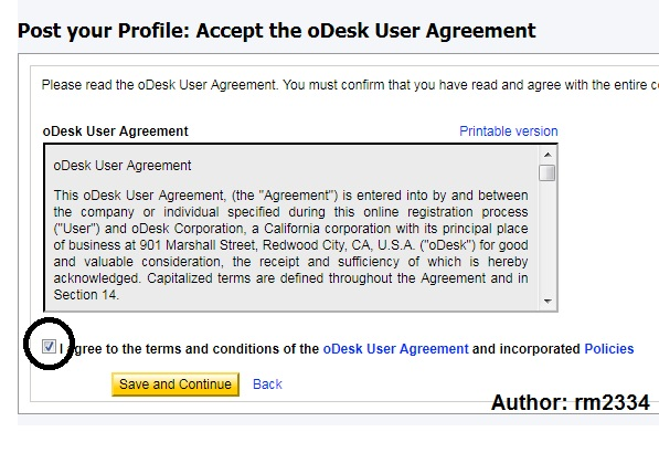 Odesk Profile Create Part: 11