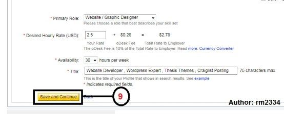 Odesk Profile Create Part: 9