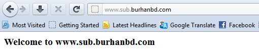 Welcome to subdomain