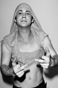 Logan Lerman nearly shirtless