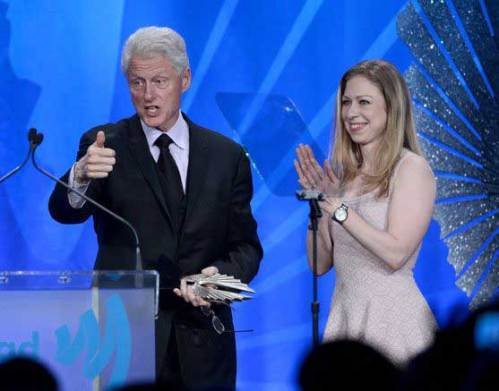 Bill Clinton at the GLAAD Media Awards