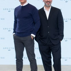 Daniel Craig & Sam Mendes at Spectre Launch