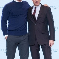 Daniel Craig & Christoph Waltz at Spectre Launch