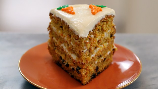 A slice of Best-Ever Carrot Cake, with Cream Cheese Frosting