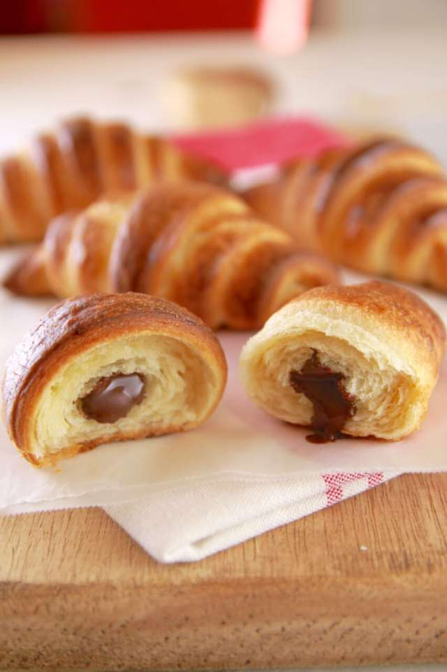 Homemade Chocolate Croissants, croissants, Chocolate croissants, Homemade croissants, homemade pastries, Breakfast pastries, baking, Homemade breakfast pastries, Gemma Stafford, bigger bolder baking, baking, breakfast, pastries, Danish, bold baking, chocolate, chocolate recipes