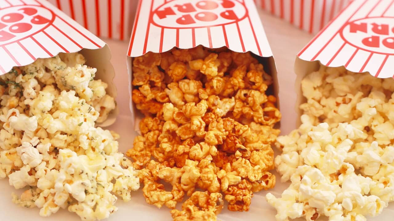 homemade microwave popcorn made in a brown paper bag