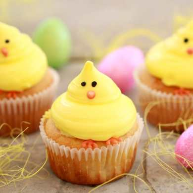 Baby Chick Vanilla Cupcakes (Small Batch Cupcakes for Spring)