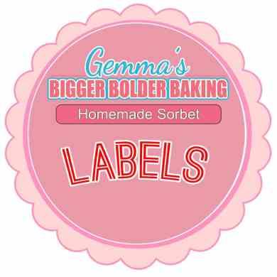 Homemade Sorbet Labels