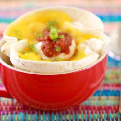 Microwave Breakfast Burrito in a Mug: Mugrito