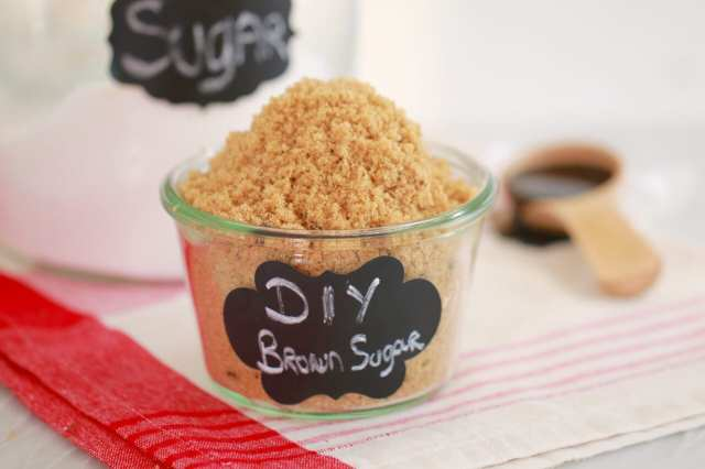 How to make Brown Sugar - For those times you need brown sugar but all you have is white! Now you can easily make your own with just 2 ingredients.