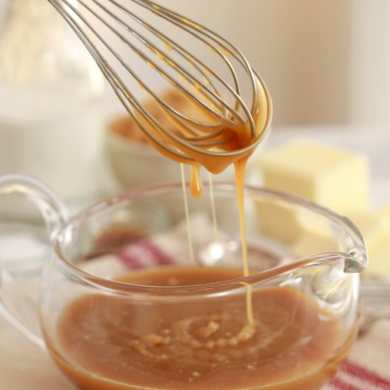 Microwave Salted Caramel Sauce