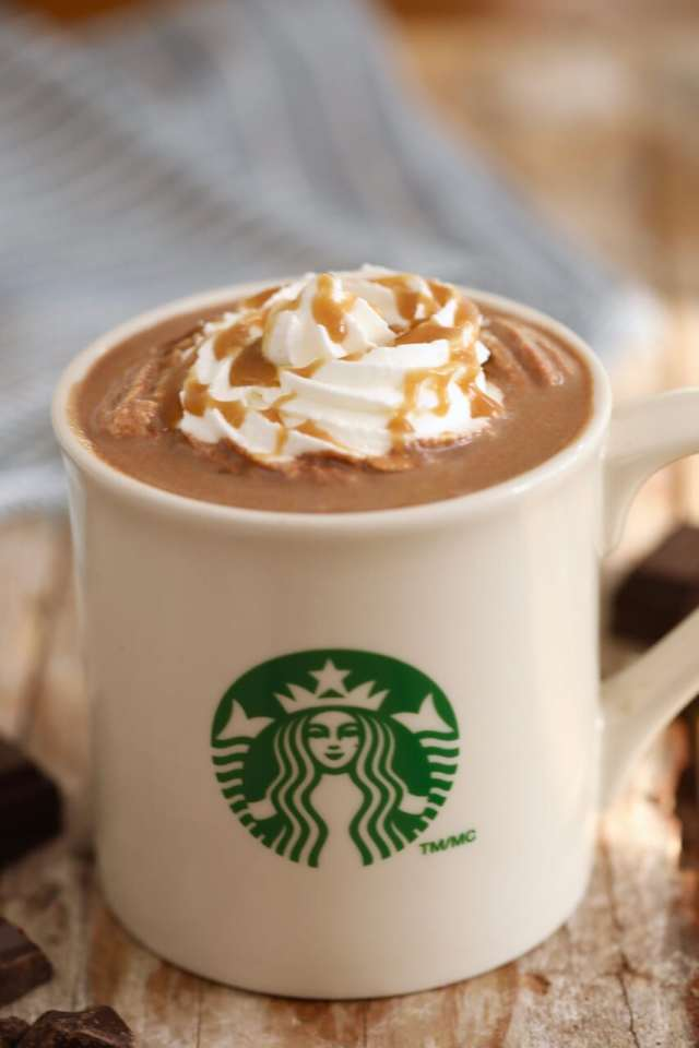 Starbucks Salted Caramel Hot Chocolate, starbucks drinks, Hot chocolate recipe, how to make starbucks drinks, Salted Caramel Hot Chocolate, best ever hot chocolate recipe