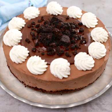 No Bake Fudge Brownie Cheesecake