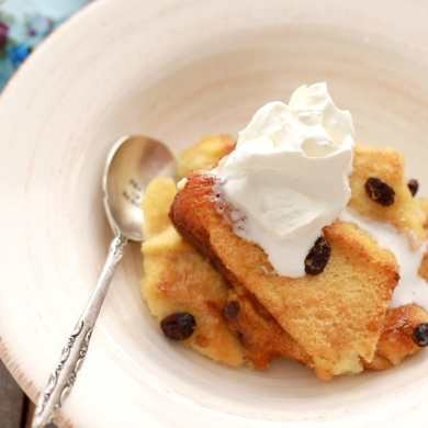 Traditional Irish Bread and Butter Pudding
