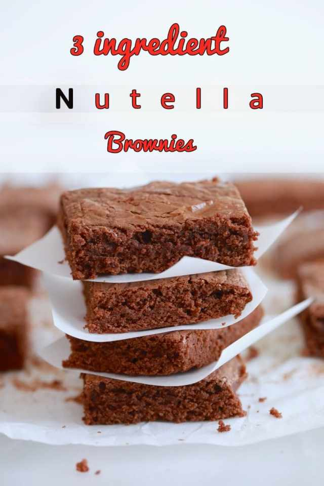 Chocolate recipes, Chocolate brownies, Nutella recipes, easy brownie recipe, easy recipes, kid friendly recipes, brownie recipes, baking, easy desserts, dessert recipes