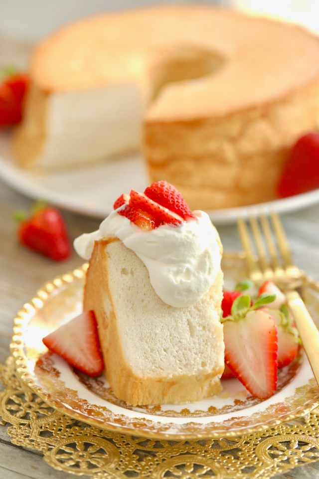 The light and airy texture of Homemade Angel Food Cake.