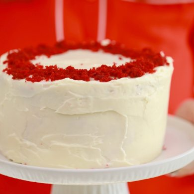 3 Layer Microwave Red Velvet Cake