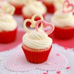 Pink Velvet Cupcakes for Valentine's Day