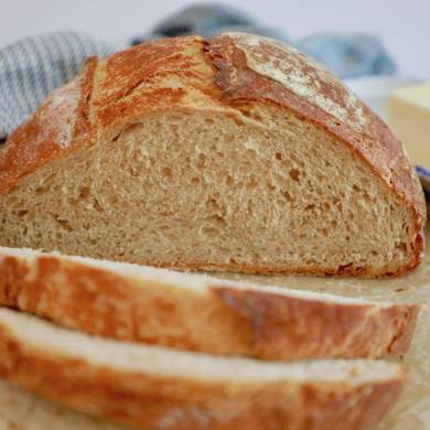 Artisanal Whole Wheat Bread Recipe (No-Knead, Beginner's Bread)