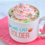 Celebration Vanilla Mug Cake Recipe Gemma S Bigger Bolder Baking