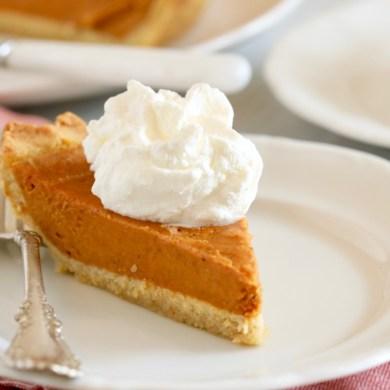 Simple Gluten Free Pumpkin Pie