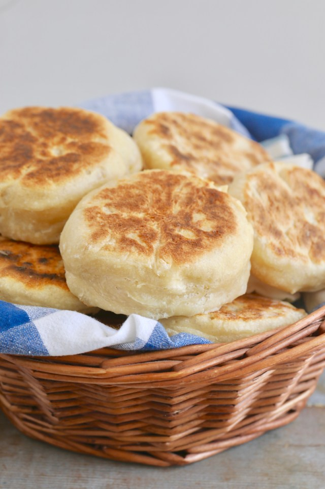 Finished english muffin recipe, full batch.