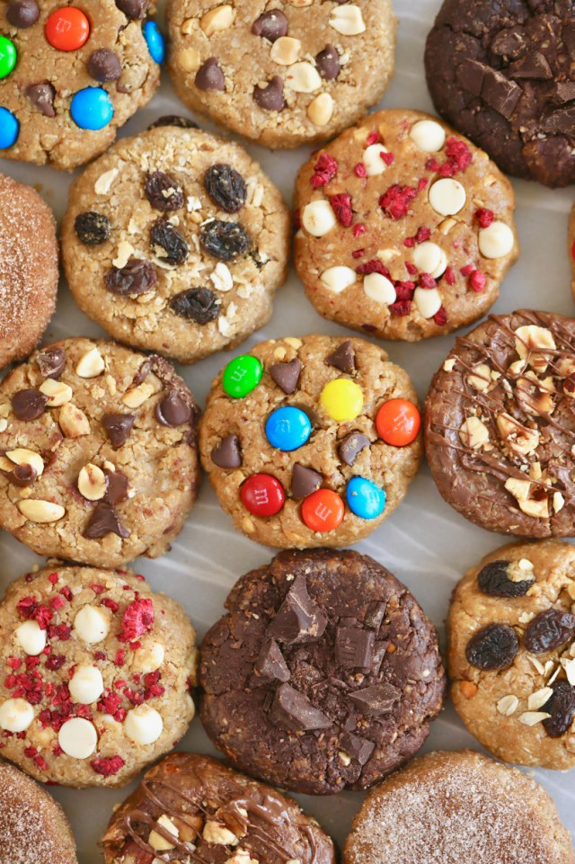 All the different varieties of No-Bake Cookies.