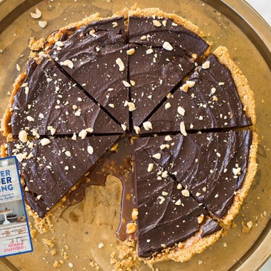 Salted Caramel and Peanut Chocolate Tart from the Bigger Bolder Baking Cookbook