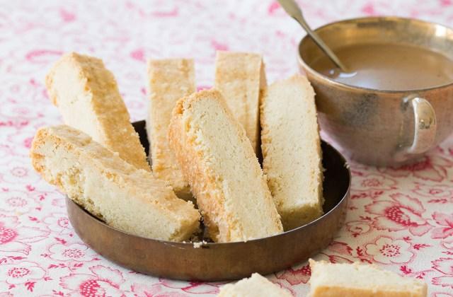Sticks of Irish Shortbread from the Bigger Bolder Baking Cookbook.