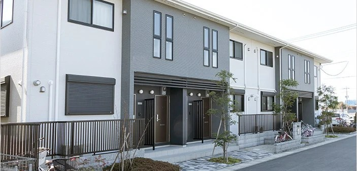 gray and white small multifamily real estate