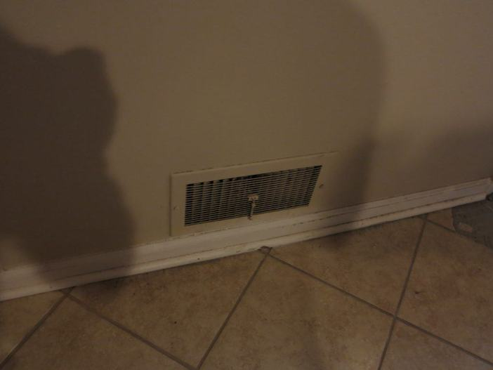 old vent in need of replacement