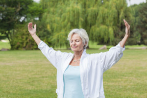 senior woman yoga