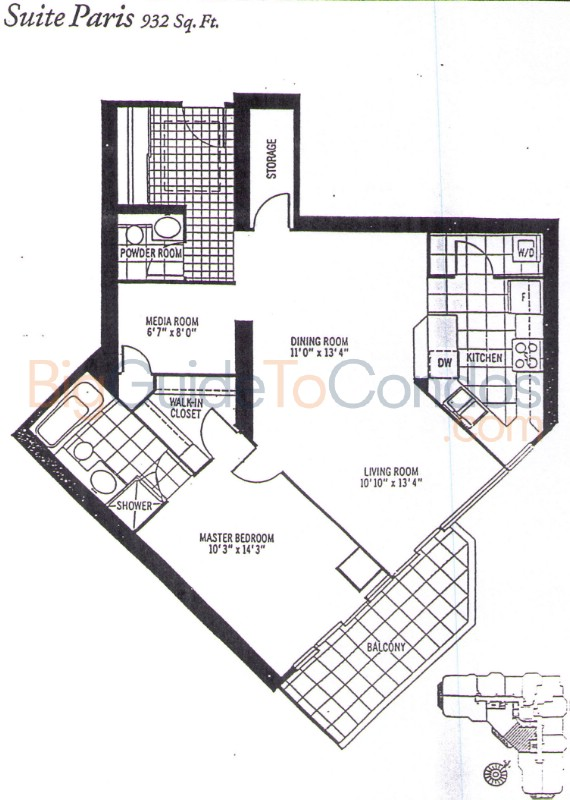 Queens Quay West Floor Plans
