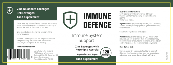 ingredients in Immune defence booster