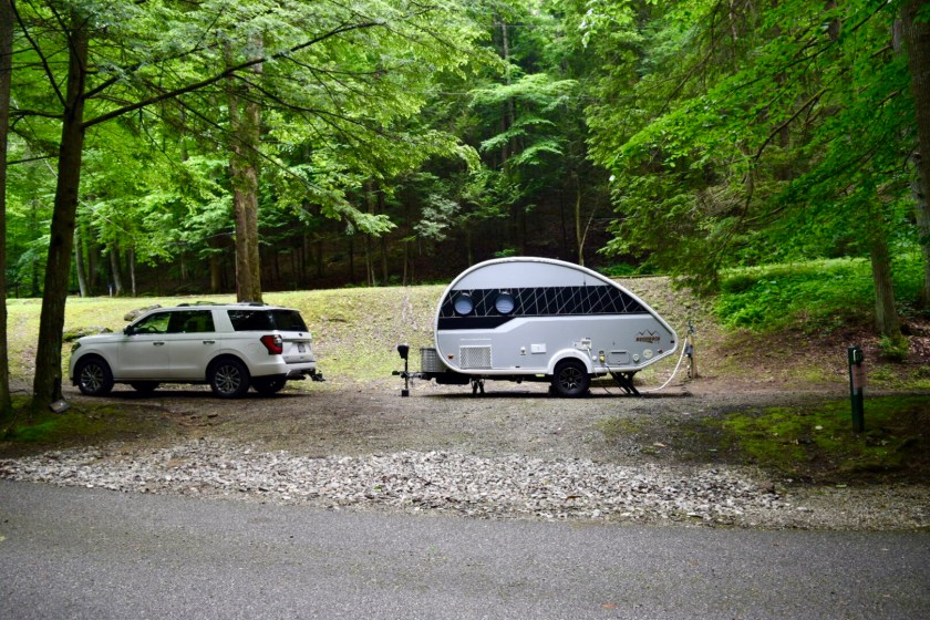 West Virginia Camping in the Mountains - Big Guy Tiny Trailer